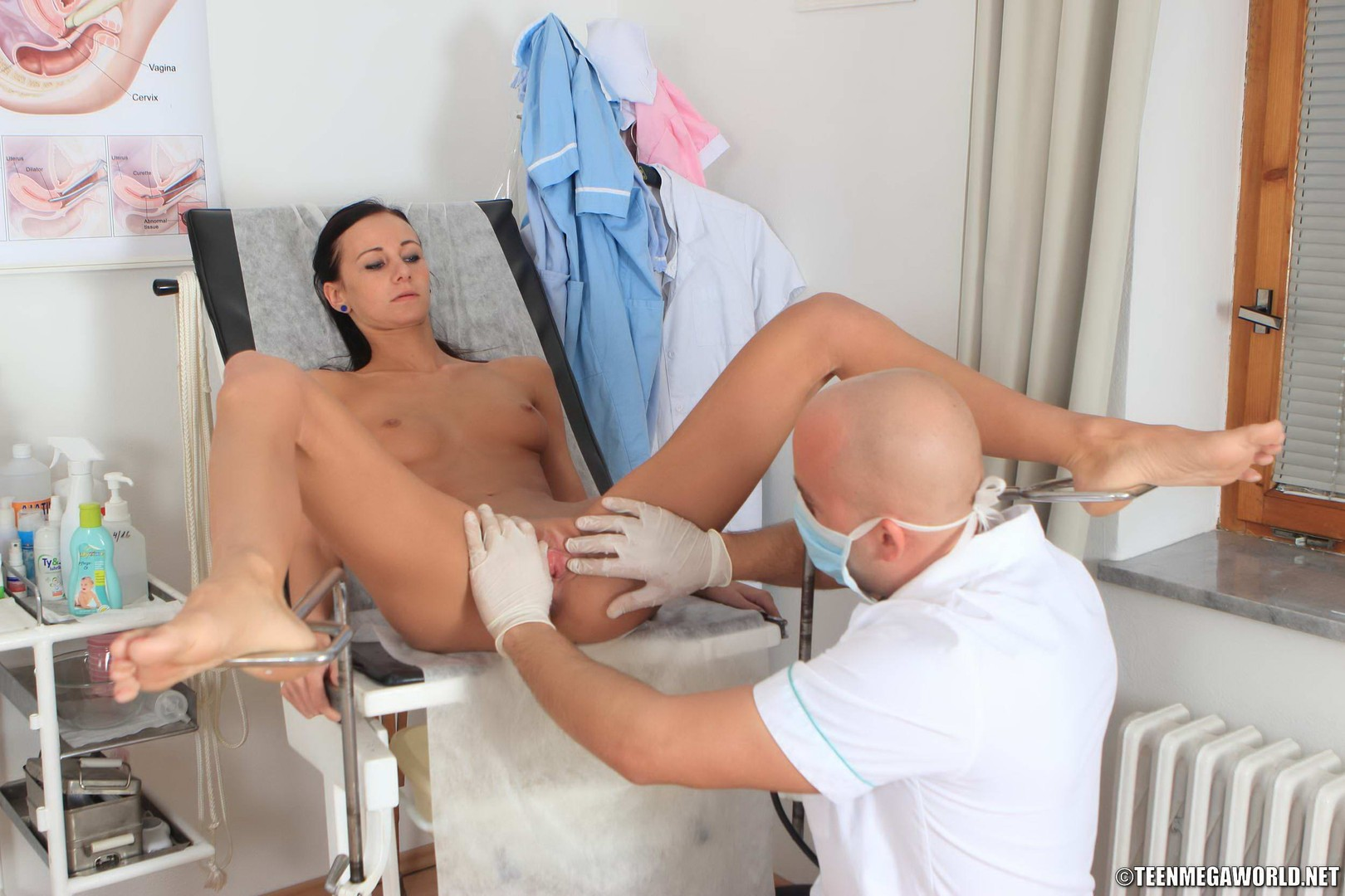 Male Gynecologist Humiliates A Nude Helpless Girl